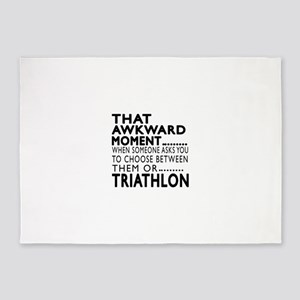 Triathlon Awkward Moment Designs 5'x7'Area Rug